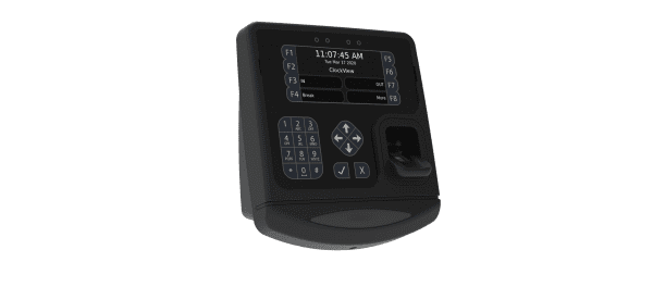 Acumen's GT450 time clock offers an efficient biometric fingerprint scanner to make clocking in fast and secure.
